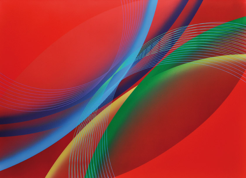 """Contrastes de Rojo"" . acrílico sobre lienzo . 80x100cm . 2012"