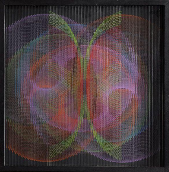 """""""Formas en Profundidad"""" . técnica mixta . 63x63x6cm . 1972/2005"""