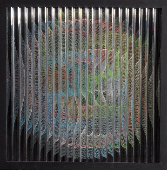 """""""Dinamismo Circular"""" . acrílico y madera . 65x65x15cm . 1973"""