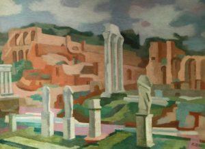 Las Vestales . óleo sobre lienzo . 60x80cm . 1956