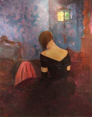 Después del Sarao . óleo sobre lienzo . 135x107cm . 1925