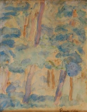 Bosque . acuarela sobre papel . 32x24cm . 1917
