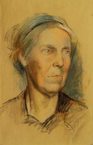 Lèonie Matthis . pastel sobre papel . 63x48cm . 1945