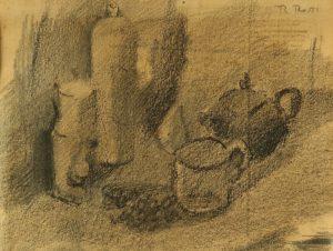 Naturaleza . lápiz sobre papel . 16x21cm . 1945