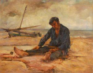Pescador . óleo sobre lienzo . 90x114cm . 1939