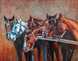 Seis en el Palenque . óleo sobre lienzo . 70x90cm . 2014