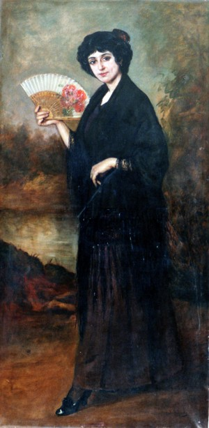 Maja Madrileña . óleo sobre lienzo . 176x90cm . 1910