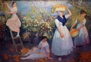 Cosechando . óleo sobre lienzo . 107x153cm . 1920