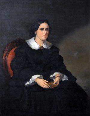 Ana Rivarola de Almagro . óleo sobre lienzo . 118x92cm . 1858