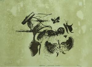 24. Mariposas . litografía . 29x39 cm . 1942