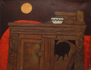 Mueble Roto . óleo sobre lienzo . 65x81cm . 1972