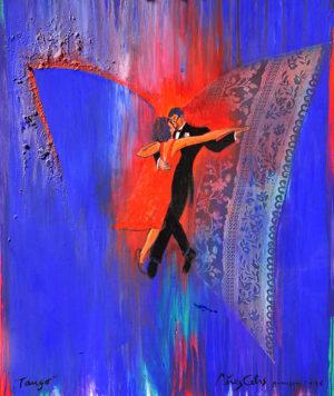 Tango . técnica mixta sobre lienzo . 126x106cm . 1996