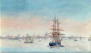 Buenos Aires . acuarela sobre papel . 12x20cm . 1868