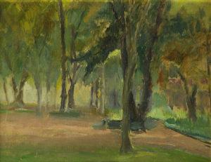 El Parque . óle sobre cartón . 26x32cm . 1940