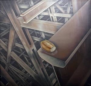 Vértigo . óleo sobre lienzo . 100x100cm . 1978