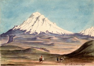 El Chimborazo . acuarela sobre papel . acuarela sobre papel . 1830