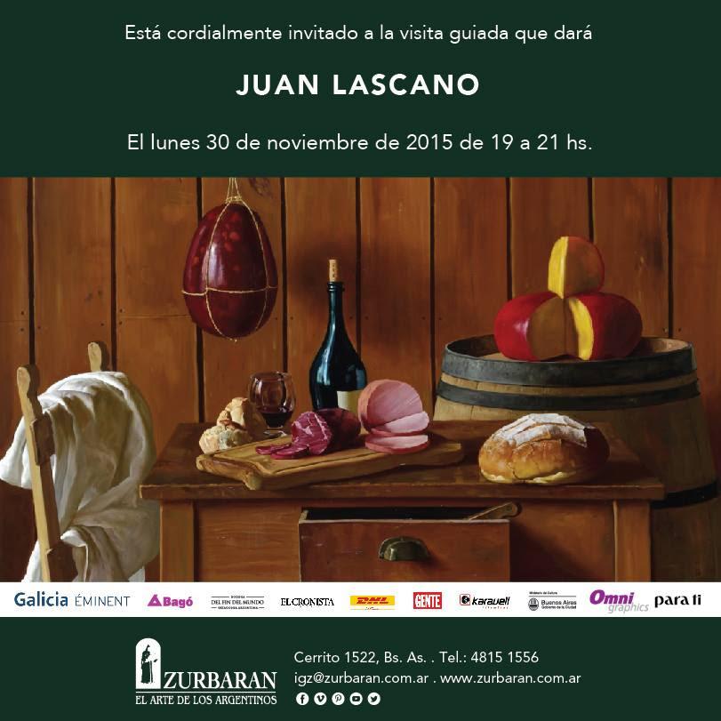 Vení a recorrer la muestra de Juan Lascano junto a él en su visita guiada del próximo lunes 30