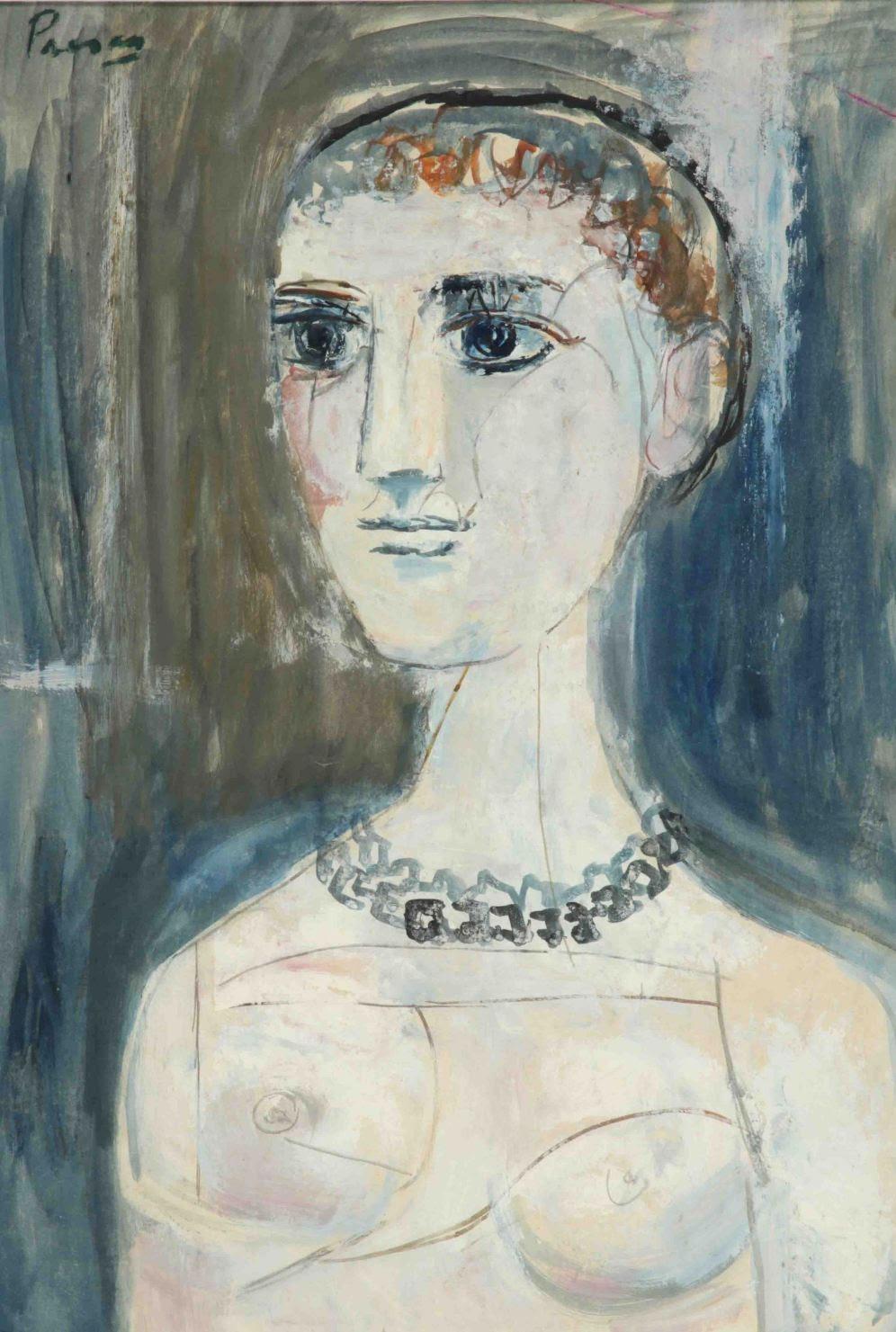Se puede reconocer en los ojos la influencia que Presas recibió durante su asistencia a las clases particulares del maestro Lino Enea Spilimbergo en la Escuela de Artes Gráficas.