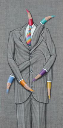 Durante esta muestra podrá notar que la figura del lápiz, es quién vuelve a tener un papel predominante en las más de 25 obras que se exhiben.