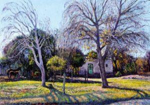 Ultimas hojas . óleo sobre lienzo . 70x100cm . 2015