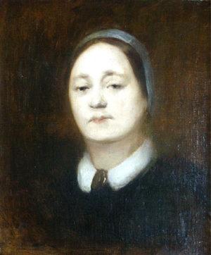 """Eugène Carrière. """"Sólo Mujer"""". Óleo sobre lienzo. 55x46 cm. 1890C"""