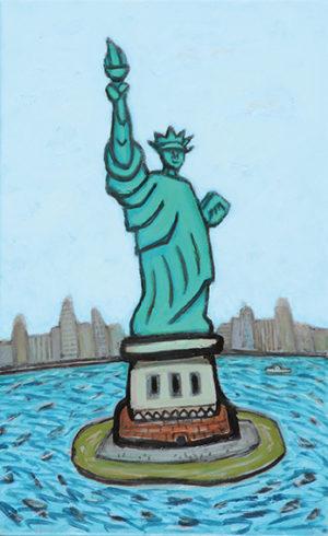 Estatua de la Libertad . óleo sobre lienzo . 40xxxcm . 2016