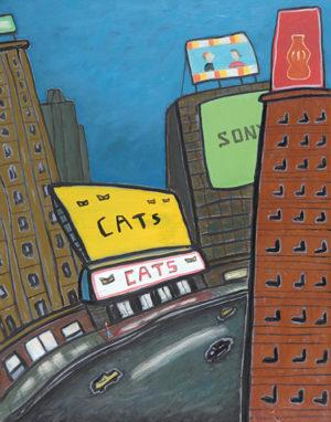 Neón y Marquesina, Time Square . óleo sobre lienzo . 60x96cm . 2016