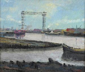 """Luis Aquino. """"Soledad en el Riachuelo"""". Óleo sobre tabla. 58x70cm. 1960"""