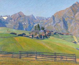 Usseglio, Italia . óleo sobre lienzo . 100x120cm . 1925