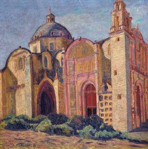 Iglesia de San Francisco . óleo sobre lienzo . 70x67cm . 1928