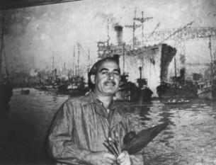 1947 - Premio Estímulo del Salón Nacional Al cumplir 50 años, viajó a Europa exponiendo en Perpignan, Francia, y en Barcelona y Gerona, España, la tierra de sus padres. Allí pintó bellísimas playas y puertos.