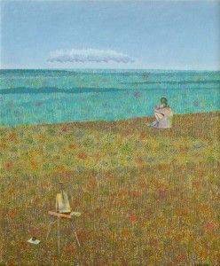 "Néstor Villar Errecart . ""La Hoja"" . óleo sobre hardboard . 60 x 50 cm . 2012"