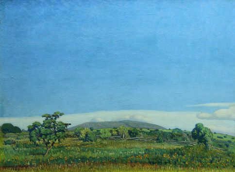 """Angel Vena . """"Paisaje Sureño"""" . óleo sobre tabla . 60 x 80 cm . 1926"""