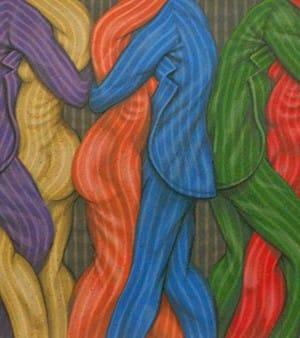 Ernesto Bertani . Tangueros . serigrafía . 60x90cm . 2003