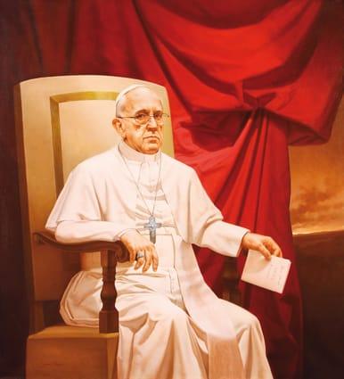 El Papa Francisco . óleo sobre lienzo . 110x100 cm . 2014