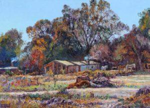 """""""Caballitos"""" . óleo sobre lienzo . 50 x 70 cm . 2013"""