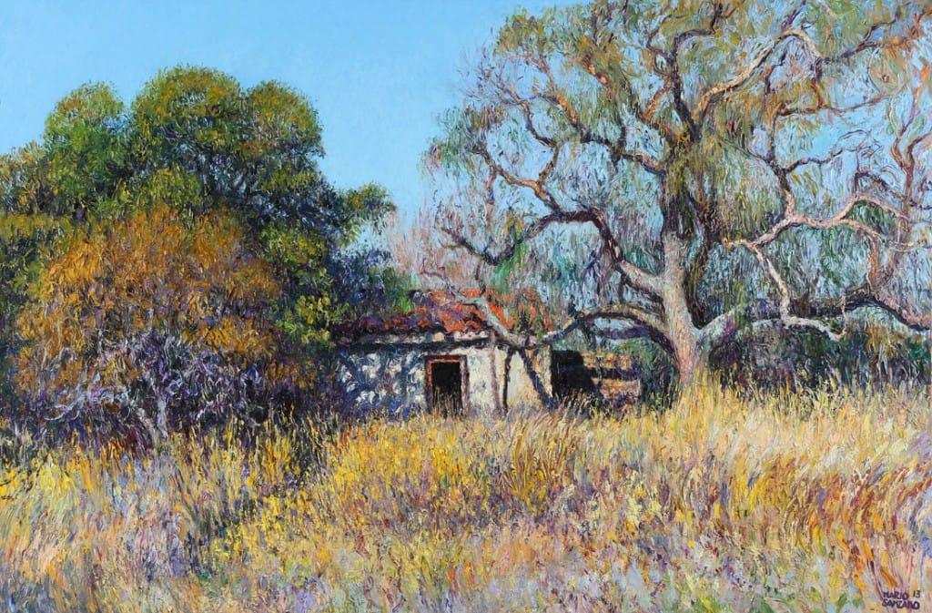 """Mario Sanzano . """"Ausencia"""" . óleo sobre lienzo .80 x 120 cm . 2013"""