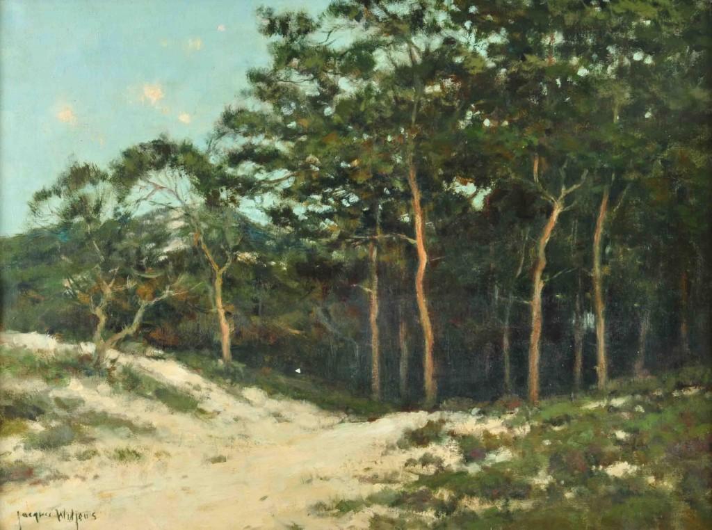 Arboleda . óleo sobre lienzo . 60x80cm . 1940