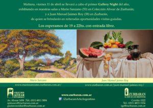Gallery Night - Viernes 11 de Abril - Los esperamos de 19 a 22 hs con entrada libre.
