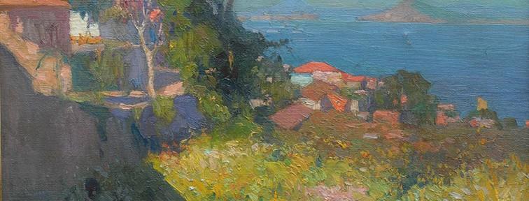 Una Tarde Serena . óleo sobre lienzo . 45x55cm . 1918