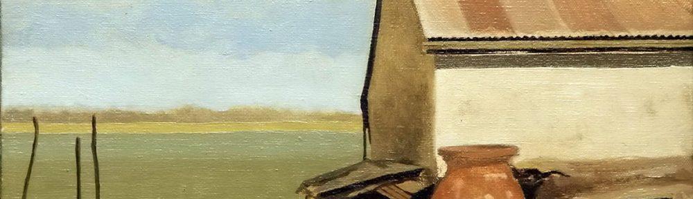 De una Chacra . óleo sobre lienzo . 24x30cm . 1974