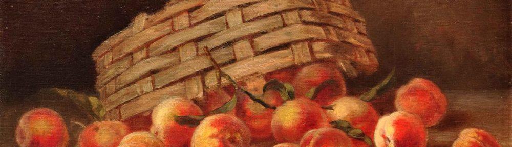 Canasta de Frutas . óleo sobre lienzo . 44x61cm . 1908