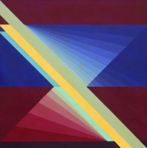 Opuestos 7 . acrílico sobre lienzo . 120x120cm . 2003