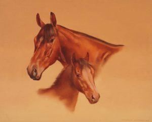 Maternidad . óleo sobre lienzo . 40x50cm . 1980