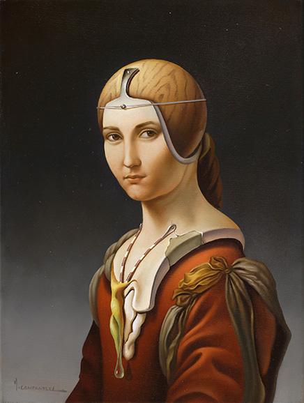 La Belle Ferroniere . óleo sobre lienzo . 40x30cm . 1986