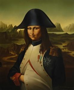 La Gioconda Napoleónica . óleo sobre lienzo . 46x38cm . 1988