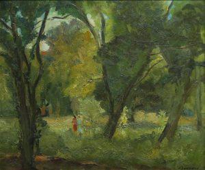 Paisaje . óleo sobre cartón . 49x58cm . 1950
