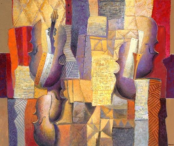 """""""Tapiz Ocre"""" . óleo sobre lienzo . 100 x 120 cm . 2013"""