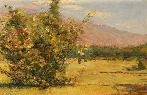Vella de Susa, Italia . óleo sobre tabla . 20x29cm . 1915