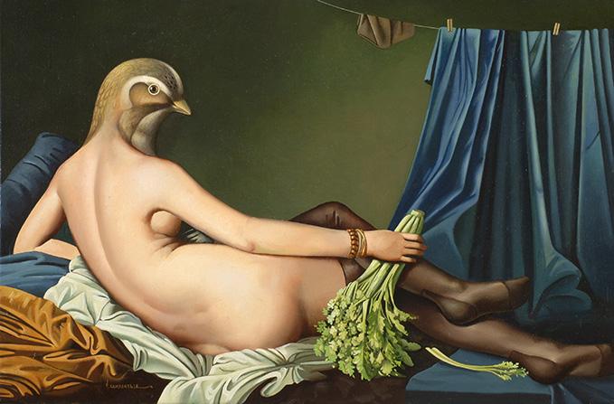 Odalisca Acostada . óleo sobre lienzo . 40x50cm . 1985